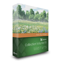 Wild Plants 3D Models Collection FBX OBJ