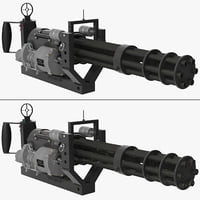 3D m134 minigun mounting bracket model