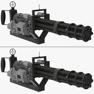 3D m134 minigun mounting bracket model