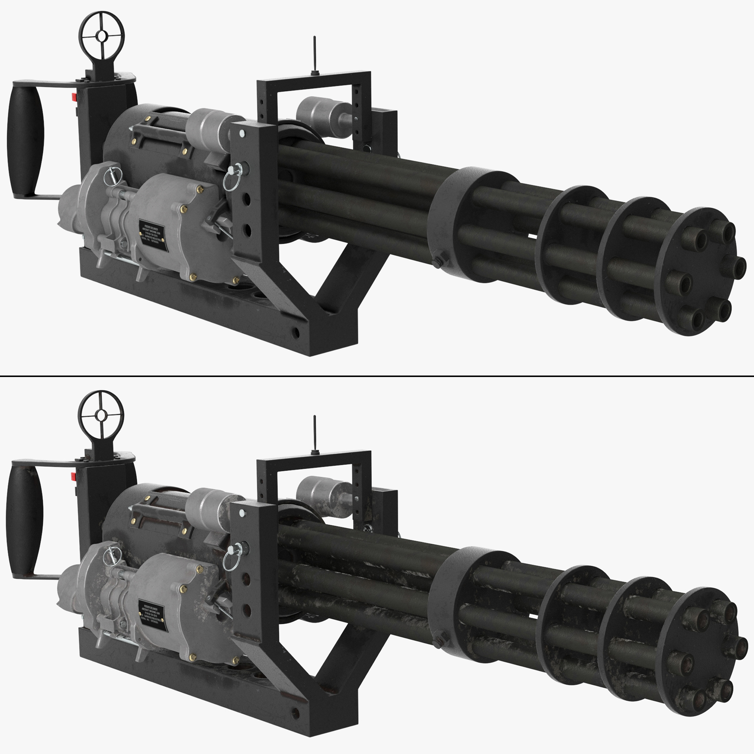 M134 Minigun With Mounting Bracket Collection