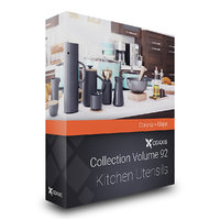kitchen utensils corona 3D