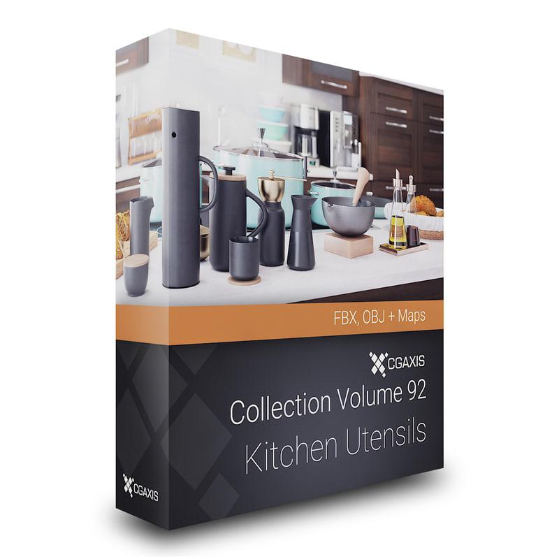 3D kitchen utensils