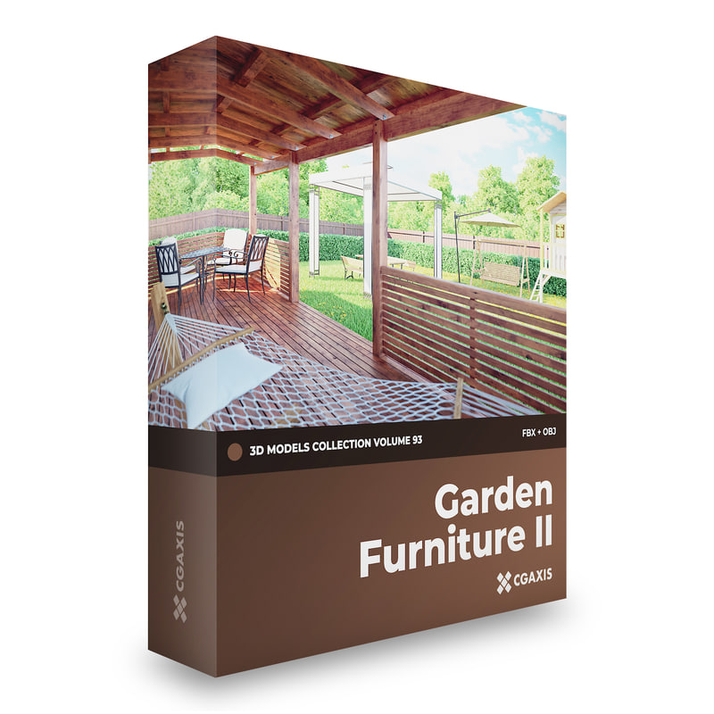garden furniture 3d model - Garden Furniture 3d Model