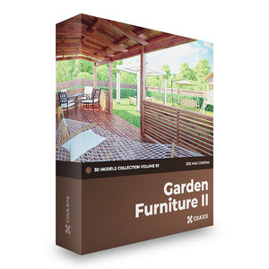 garden furniture corona 3D model