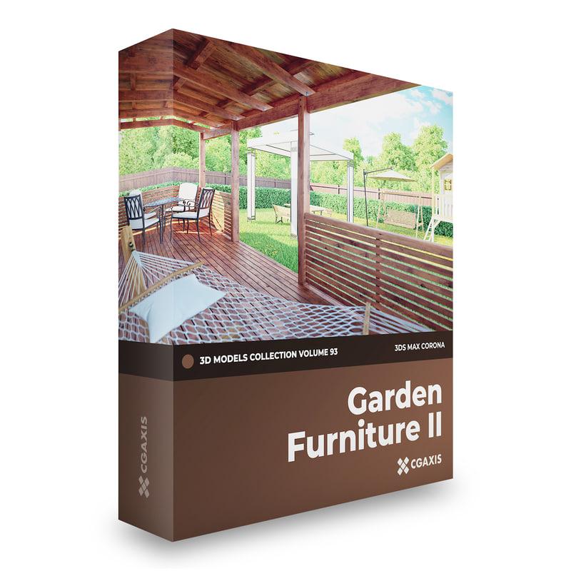 garden furniture corona 3D model