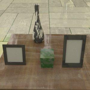 3D model drawers bonus objects 4