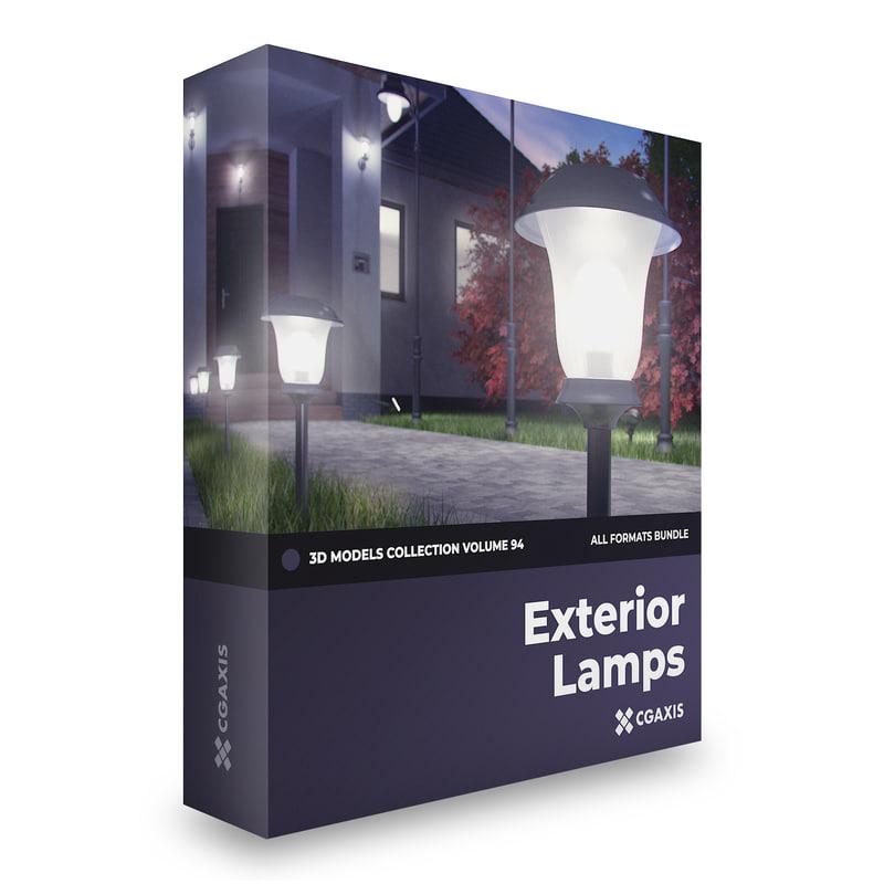 exterior lamps 3D model
