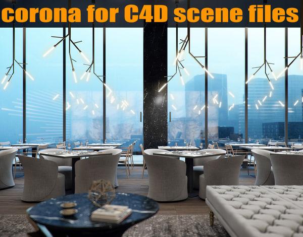 corona scene files - 3D model