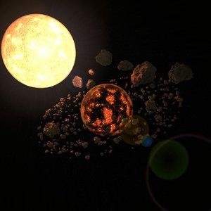 space scene 3D model