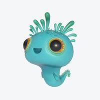 3D model cute creature sea