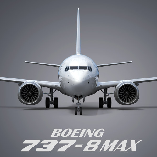 3D model boeing 737-8 generic white