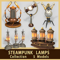 3D lamps steampunk model