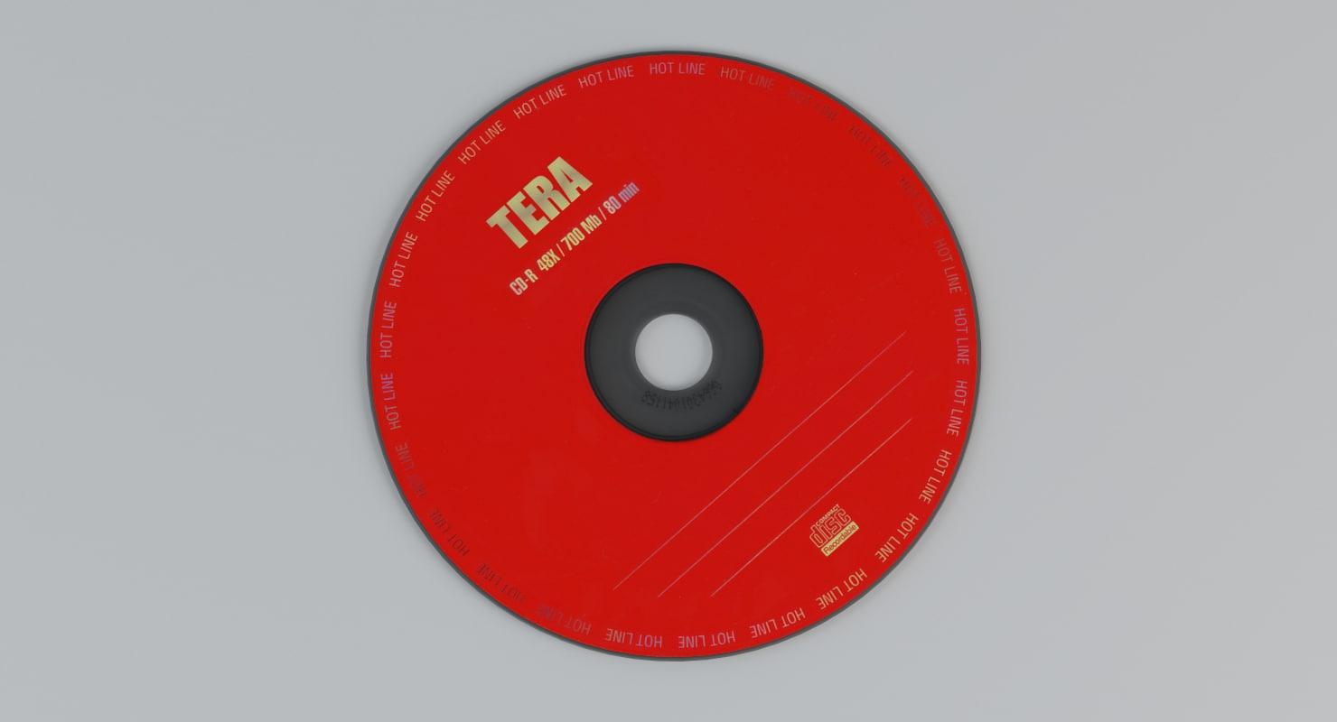3D compact disc model