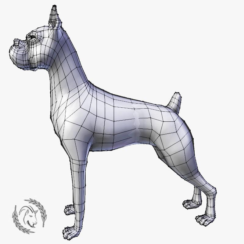boxer dog model