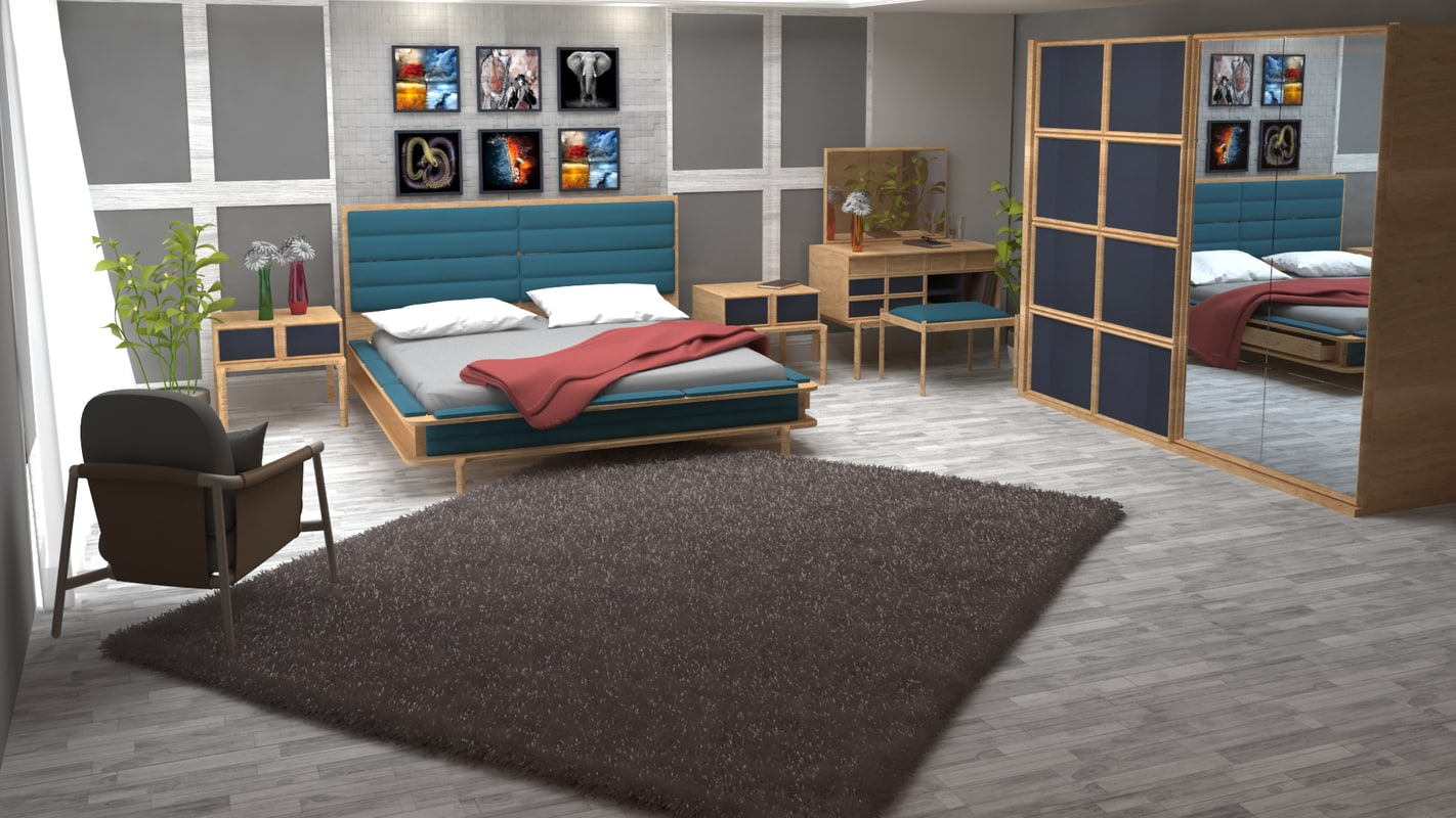bedroom interior model