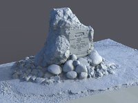 rock plaque scanned polys 3D model