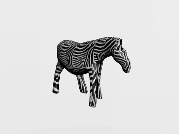 3D zebra statue