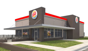 burger king site signs 3D model