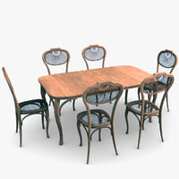 arnold chair table 3D model