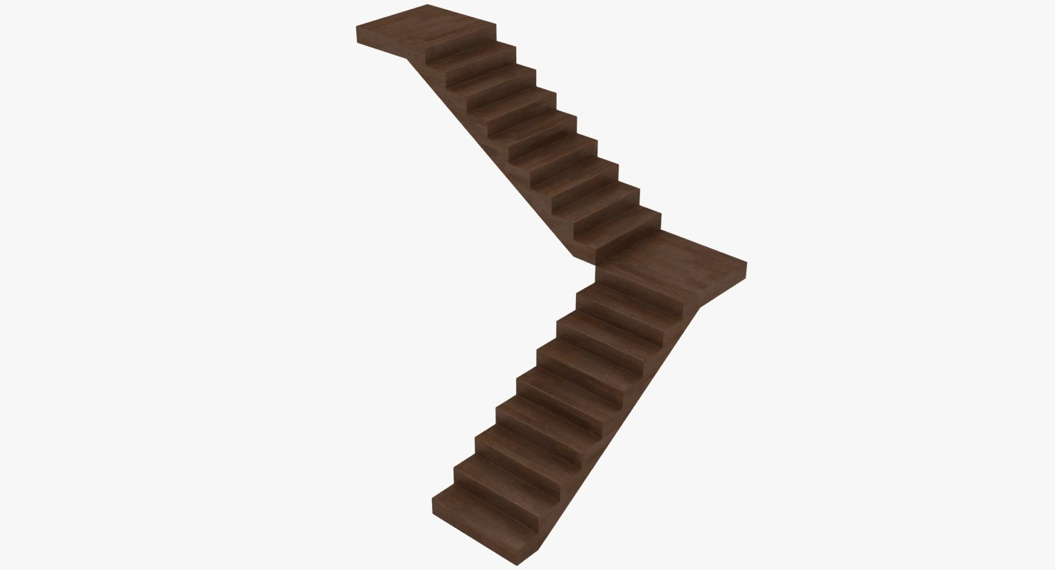 3D realistic stairs model