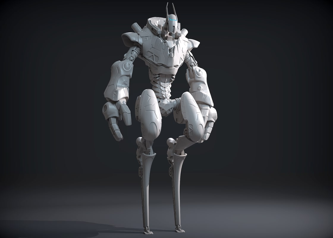 3D concept sci-fi character mantis