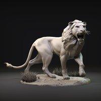 lion zbrush model