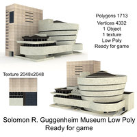 Solomon R. Guggenheim Museum Low Poly Ready for game