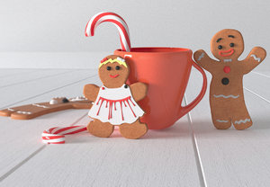 3D gingerbread cookies