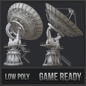 large array radio telescope 3D model