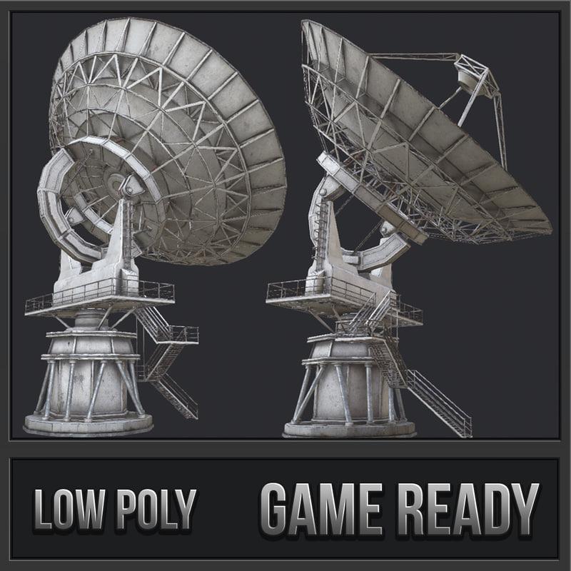 large array radio telescope 3D model