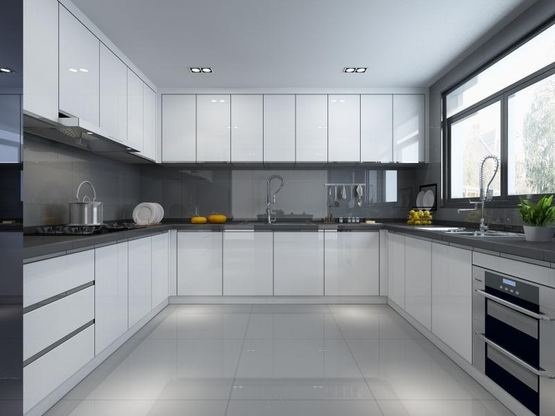 3D model modern kitchen - TurboSquid 1243078 on Model Kitchen Picture  id=56214