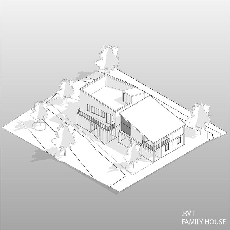 3d revit house model turbosquid 1243085 3d revit house model ccuart Gallery
