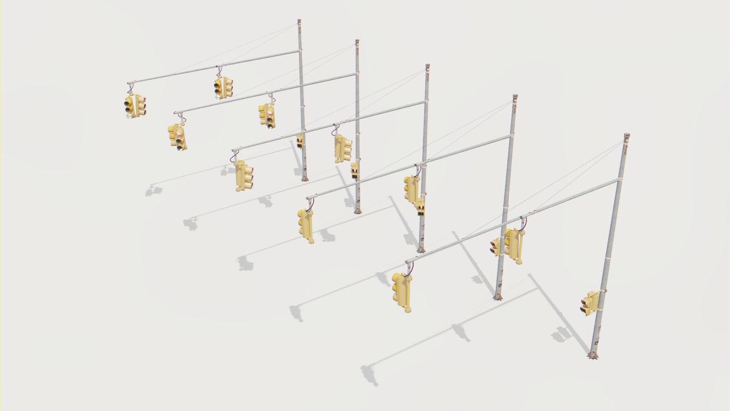 traffic light 3D model