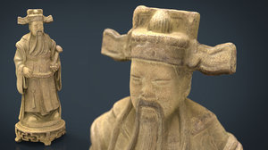 ancient chinese sculpture 3D