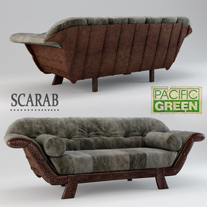 scarab pacific green 3D model