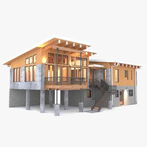 3D model modern house style