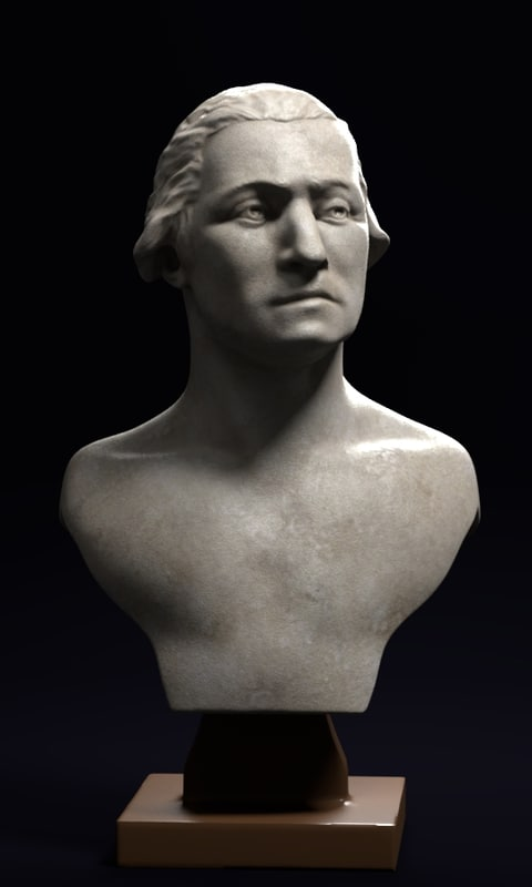 bust george washington marble model
