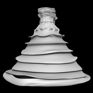 pleated dress 3D model