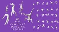 dancing poses human 3D model