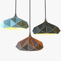 geometry lamp lights 3D model
