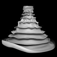 3D pleated dress
