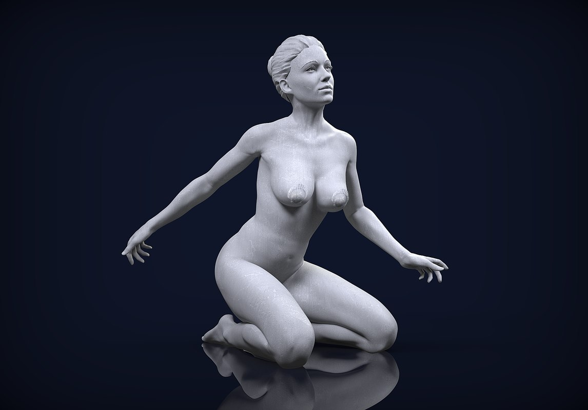 female character 02 sculpt 3D model