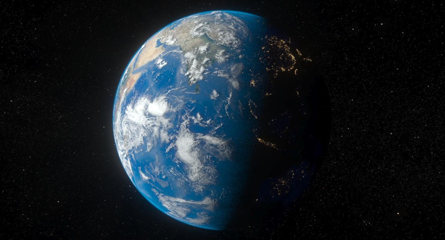 3D planet earth model