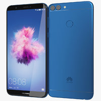 realistic huawei p smart 3D model