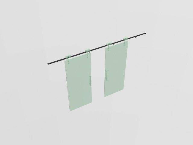 modern glass door style model