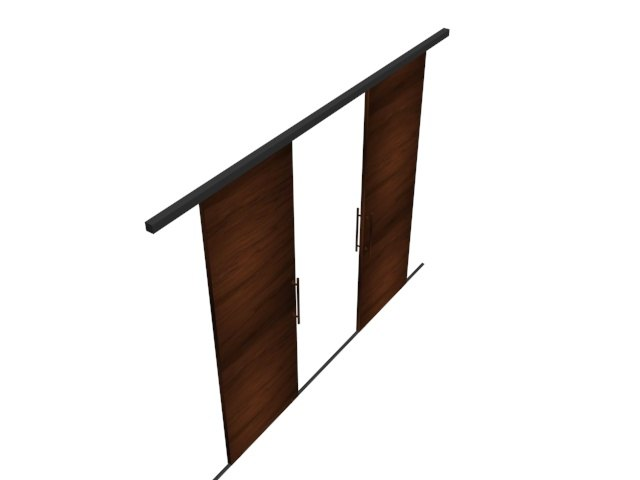 3D modern wooden door style