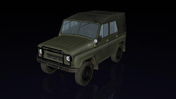 russian uaz 3D model