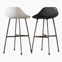 3D concrete hauteville counter chair
