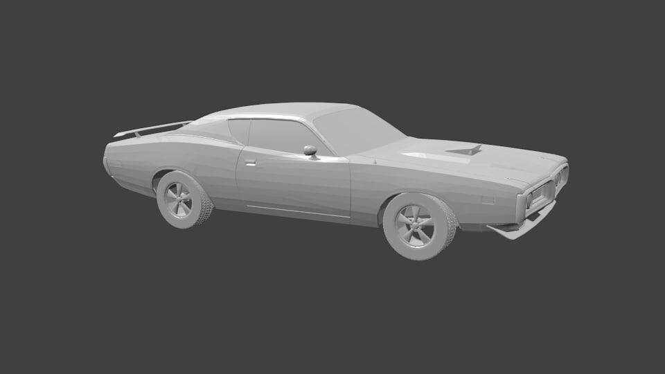 dodge 3D model