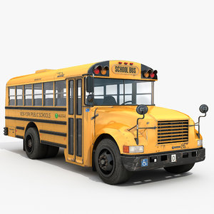 classic school bus small 3D